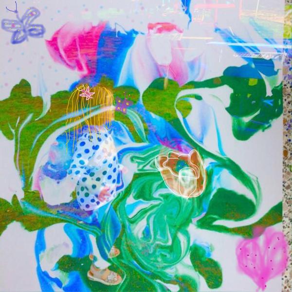 Schmetterling, Blumen, Powerflower, Blüte, Sommer, Mischtechnik