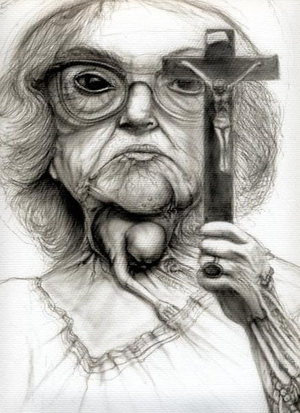 Abtreibungsgegner, Bigott, Zeichnung, Zeichnungen,