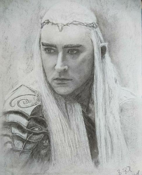 Portrait, Zeichnung, Kohlezeichnung, Fantasie, Hobbit, Menschen