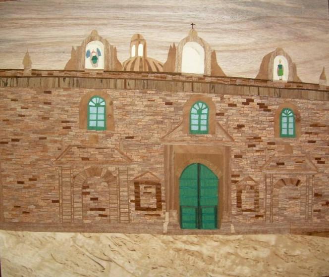Panorama, Marketerie, Holz, Kunsthandwerk, Intarsienbilder, Cusco