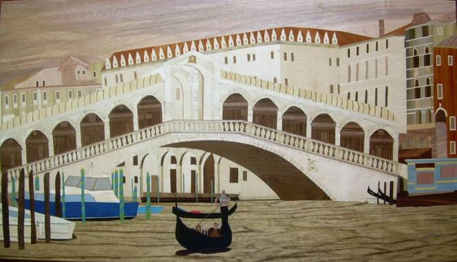 Kunsthandwerk, Marketerie, Holz, Intarsienbilder, Venedig, Venezia