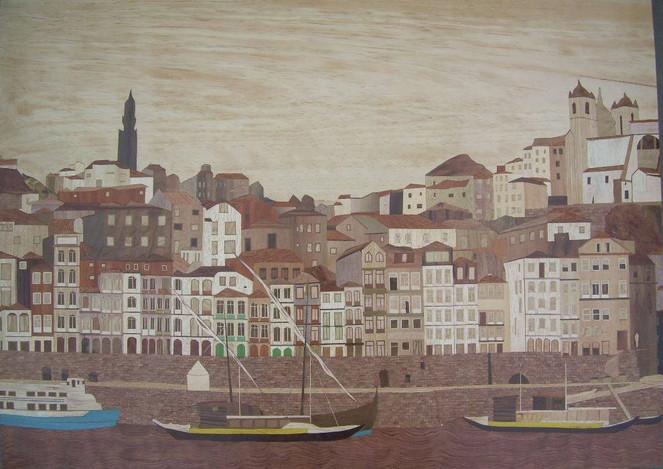 Intarsienbilder, Marketerie, Porto, Kunsthandwerk, Holz,