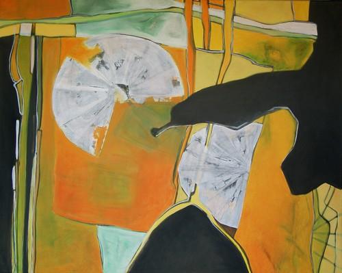 Kreislauf, Zersetzung, Abstrakt, Sonne, Malerei, Herbst