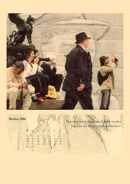 Menschen, Oktober, Fotografie, Monat, Konzept, Kalender
