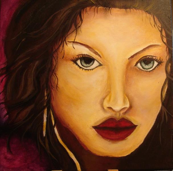 Denken, Neutral, Portrait, Gesicht, Frau, Weiblich
