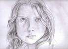 Grafit, Bleistiftzeichnung, Mädchen, Portrait