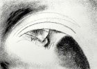 Schwarzweiß, Augen, Wahnsinn, Digital