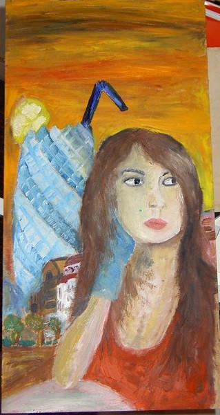 Malerei, Menschen, Frau, London,