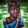 Namibia, Kind, Abstrakt, Malerei