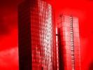Hochhaus, Wolkenkratzer, Abstrakt, Frankfurt