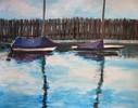 Malerei, Landschaft, Hafen