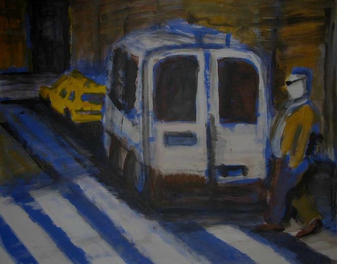 Malerei, Skizze, New york city, Usa, 2008