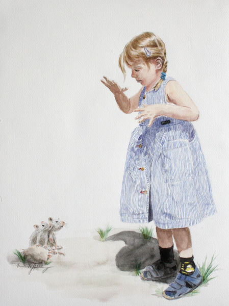 Kind, Maus, Insekten, Mädchen, Verlaufen, Kitzeln