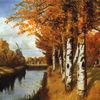 Landschaft, Moor, Herbst, Kanal