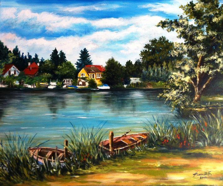 Himmel, Wasser, Garten, Malerei