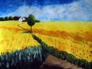 Malerei, Himmel, Landschaft, Acrylmalerei