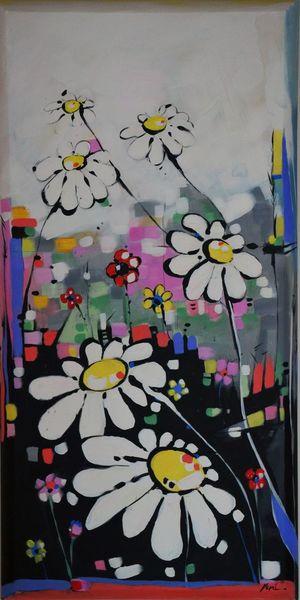 Farben, Abstrakt, Malerei, Blumen