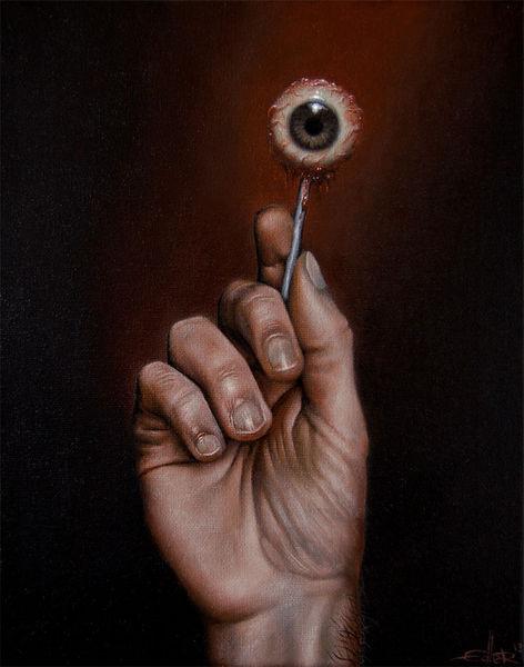 Augen, Hand, Lasurtechnik, Eye candy, Ölmalerei, Malerei