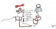 Zeichnung, Liebe, Schweigen, Zeichnungen