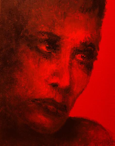 Augen, Tomate, Malerei, Rot