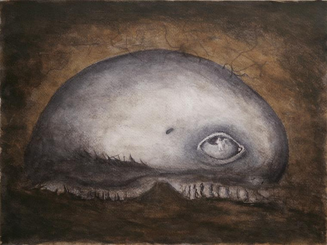Malerei, Landschaft, Alien