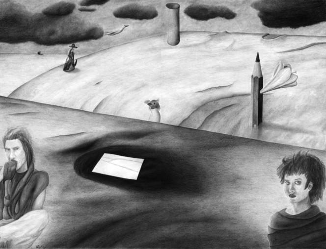 Surreal, Distanz, Abstand, Zeichnung, Zeichnungen