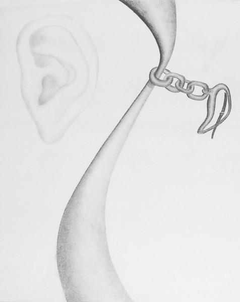 Surreal, Zeichnung, Ohr, Uhr, Zeichnungen