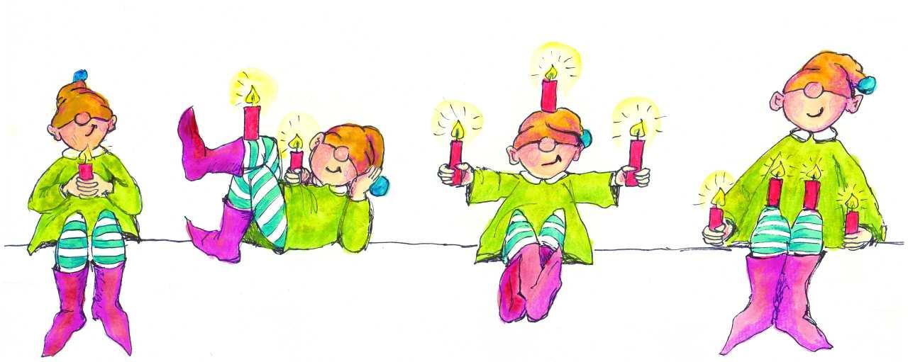 Images Of Advent >> Bild: Wichtel, Gnome, Zwerge, Märchen von Elfi Saupe bei KunstNet