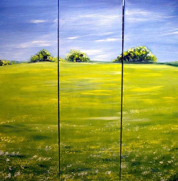 Landschaft, Himmel, Natur, Wiese, Malerei