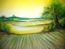 Baum, Acker, Wiese, Landschaft