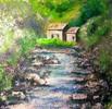 Malerei, Landschaft, Tal, Berge