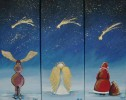 Weihnachten, Malerei, Stern, Figural