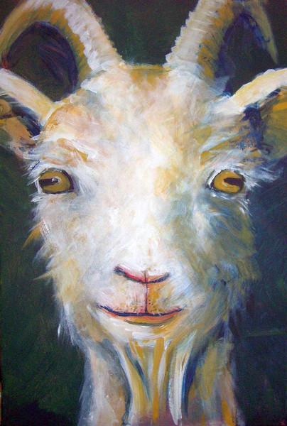 Figural, Ziegen, Bauernhof, Landleben, Tiere, Malerei