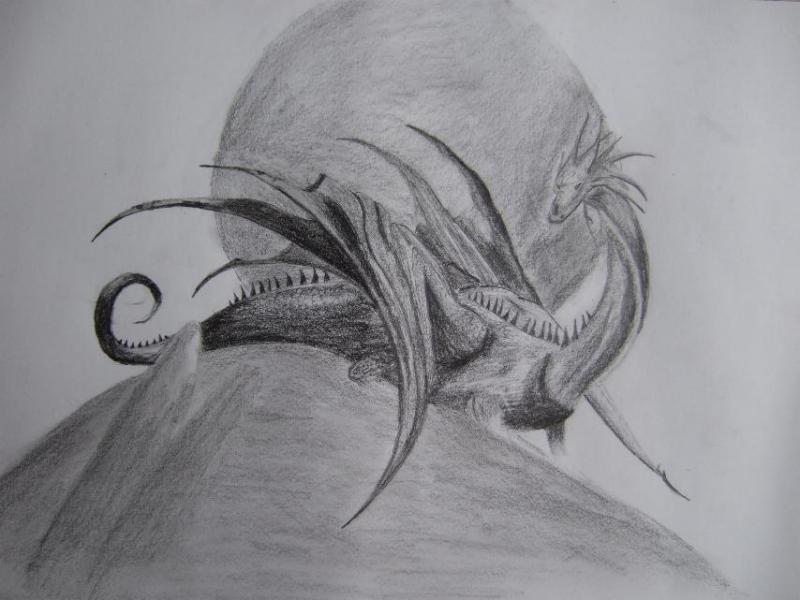 black dragon drache geschenk bleistiftzeichnung zeichnung von sunkenagi bei kunstnet. Black Bedroom Furniture Sets. Home Design Ideas
