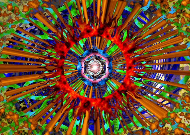 Digital, Digitale kunst, Ring, Feuer,