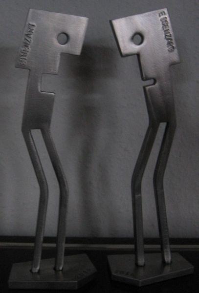 Eisenfigur, Eisen zart, Stahlskulptur, Stahl, Kunsthandwerk,