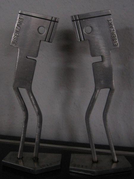 Stahlskulptur, Eisen zart, Stahl, Eisenfigur, Kunsthandwerk,