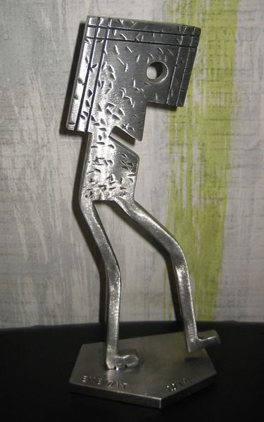 Handarbeit, Eisen, Eisenskulptur, Zart, Skulptur, Massiv