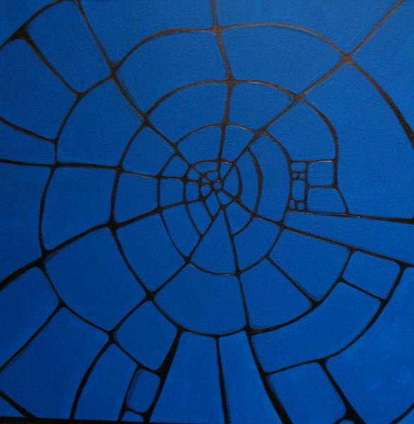 Surreal, Malerei, Grundriss, Blau, Stadtplan, Aachen