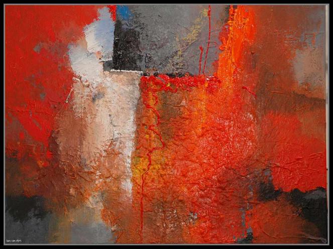 Abstrakt, Landschaft, Malerei