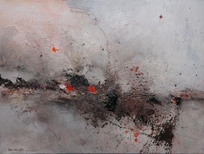 Acrylmalerei, Malerei, Oijen, Abstrakt, Bart,