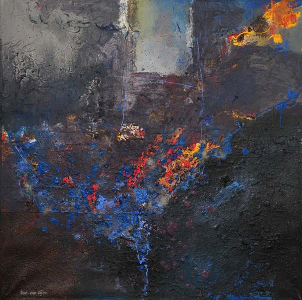 Oijen, Abstrakt, Acrylmalerei, Bart, Malerei,