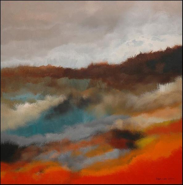 Abstrakt, Landschaft, Malerei, Holland