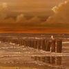 Küste, Meer, Malerei, Gemälde