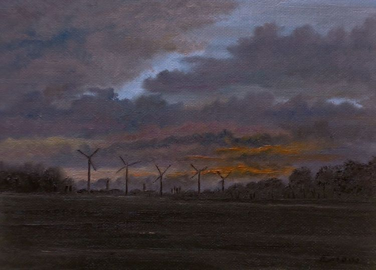 Sommer, Himmel, Landschaft, Ölmalerei, Gemälde, Zeitgenössisch