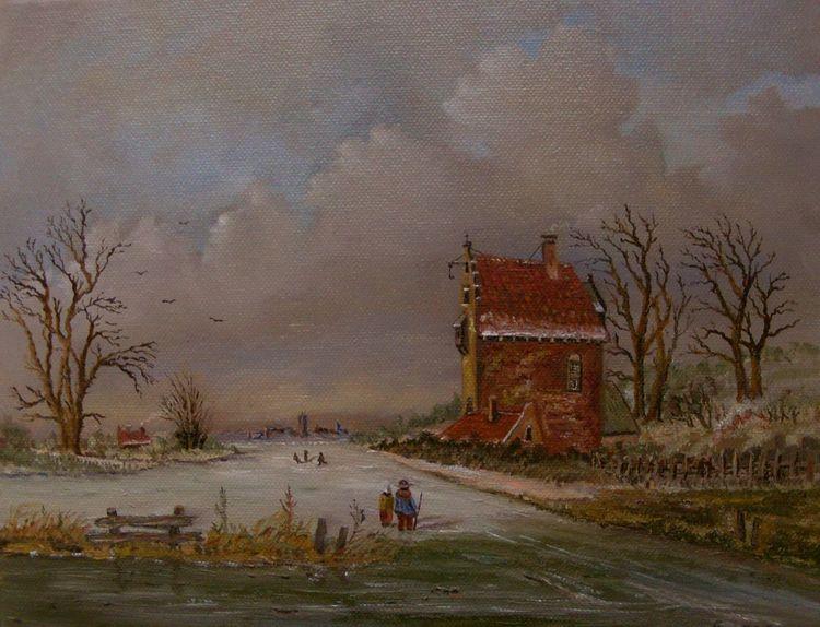 Eis, Zeitgenössisch, Malerei, Zeitgenössischer maler, Gemälde, Menschen