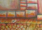 Fußgängerzone, Acrylmalerei, Bonbon, Malerei