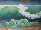 Acrylmalerei, Malerei, Welle