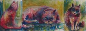 Katze, Aquarellmalerei, Aquarell, Achtung