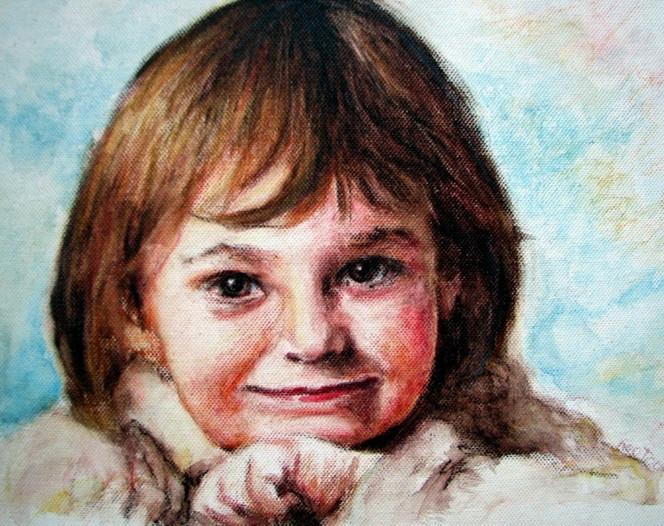Portrait, Grinsen, Lächeln, Zeichnungen,